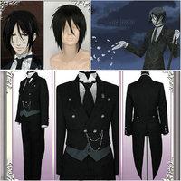 Black Butler Sebastian Kuroshitsuji Phantomhive Black Hallowmas Cosplay Costume