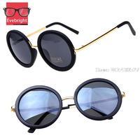 Fashion Vintage Big Round Sunglasses Women Brand Designer UV 400 Metal Sunglasses Oculos De Sol Gafas