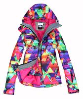 Free Shipping!! 2015 NEW  Hyun color  Women 10K Waterproof SKI JKT Snowboard Coat /ski winter coat/ski jacket