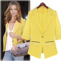 d the United States European station 2014 autumn new women's fashion thin all-match slim slim suits small coat wholesale