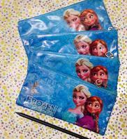 2014 HOT PVC FROZEN Princess Pencil case pen bag stationery Elsa Anna Cartoon Girls pattern school supplies
