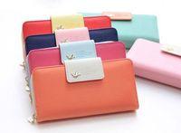 2014 Women Purse Leather Colorful Clutch Handbag Zip Button phone wallet