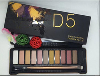 2014 new arrival hot brand new nake 5 makeup eyeshadow palette 12 colors NK5 Eye Shadow Brush makeup set