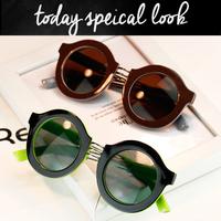 2014 new European and American punk style personalized retro round sunglasses men Ms. hip sunglasses tide glasses