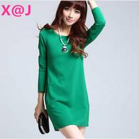 New Women dress 2014 OL temperament vestidos Plus Size Office Work Dresses S-XL
