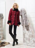 2014 Winter Women Down Jacket Red Black Blue Female Medium-Long Lady Down Coat Thickening Brand Csual Ladies Down parkas