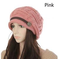 2014Winter Bomber Hats women Warm earmuffs thicken knitted hat ladies Autumn fashion caps