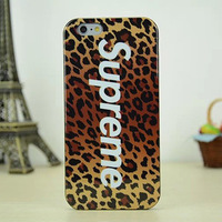 New arrival Supreme style Hard Back Plastic Case Cover for iPhone 6 with retail packaging free shipping