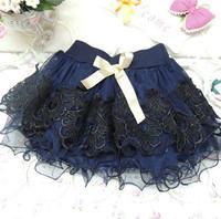 2014 spring new girls princess temperament solid color lace veil skirt tutu skirt autumn paragraph TongLace TUTU Skrits 4pcs/lot