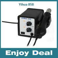 2014 new Yihua 858 220V 700W SMD Rework Solder Station Hot Air Blower Heat Gun Free shipping