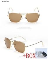Classic Vintage Metal Women / Men Aviator 3136 Sunglasses ray Gradient Photochromic rb 3136 materia/glass sunglass+Original box