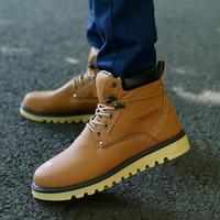 2014 new men's winter boots Korean version of the trend of men's cotton complex Guma Ding boots tooling boots tide men