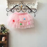 Special approval ! The new children's clothing wholesale children colored balls cake skirt skirt Korean cute skirt girls skirtLa