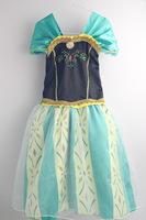Romance Snow Anna Coronation Dress Frozen Anna Green Dress Frozen Anna Cosplay Dress Size 100-140 High Quality Girl Party Dress