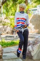 MiNi Gum 2014 New women fashion 2pcs Shield hourse print pullovers sweatshirt hoody tracksuit sportwear suit activey s m lR-004