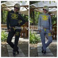 MiNi Gum 2014 New women fashion 2pcs Shield hourse print pullovers sweatshirt hoody tracksuit sportwear suit activey s m l R-005