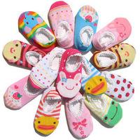Day One Lace Baby Socks Cartoon Socks Baby Socks Non-slip Floor Socks Baby Home Anti-Slip Socks 30Pairs/Lot Free Shipping