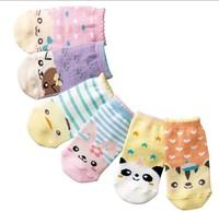 2014 New Children's Cartoon Animal Socks Wholesale Korean Baby Socks Kids Cute Cartoon Design Cotton Socks 60pair/lot Free Ship