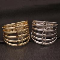 New Fashion Jewelry Brand Luxury Gold Plated Multiple Rows Circles Bangle Women Bracelets VFBA131