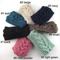 2014 New Fashion elastic solid Women Crochet Headbands girls Winter Knitted Headwraps ear warmers for Girls Teens  10 pcs/lot