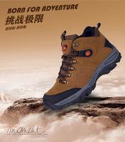 2015 Men Outdoor Hiking Boots High Shoes Hiling Hunters Suede Shock Resistant Waterproof Deodorant