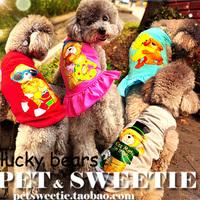 Special Lucky Bear pet dog cool thin summer dress vest dog clothes Teddy summer