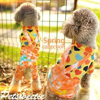 Pet dog clothes designer dog clothing Autumn Puppy shirt T shirt pants legs strap heart-shaped pattern