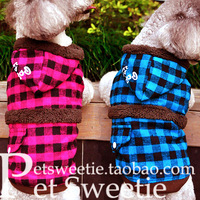 3 free shipping | plaid coat chihuahua puppy dog clothes pug clothes clothes Labrador