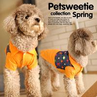 L * V print shirt POLO shirt pet dog summer clothes Teddy spring and summer dog clothes summer vest