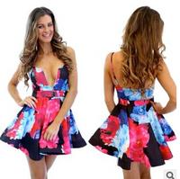 2014 New autumn Women Sexy Fashion chiffon long sleeves loose dress wine red