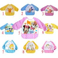 5 Piece Wholesale Baby Girl Boy Towel Saliva Waterproof New Kids Cartoon Pattern Toddler Lunch Bibs Burp Cloths 9 Styles
