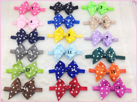 18 colors 100pcs/lot Fashion Baby Girl Lace Flower Hair Band Headband Hairband Hair Accessories