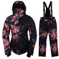 2014 NEW women 2 colorwomen ski suit Jacket Coat + Pants snowboard Clothing s-xl