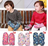 Wholesale New Fashion Thicken Warm Children Winter Gloves Baby Boys Girls Outdoor Waterproof Mittens Ski Glove for Kids 3-6T