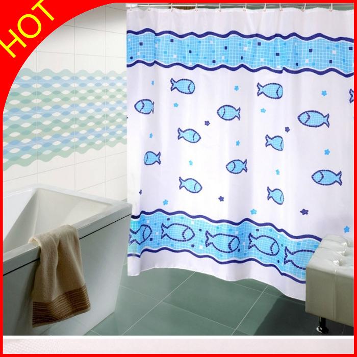 Cortinas De Baño Lavables:pescado de mar 180*200 cm alta baño cortinas cortinas de baño de
