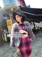 Korean fashion fur ostrich feather grass fire ladies fur coat jacket