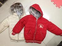 2014  New  Wholesale  Brand  fashion  autumn/winter  boy's  coat  long  sleeve  hooded  zipper  plaid  pattern  boy's  coat
