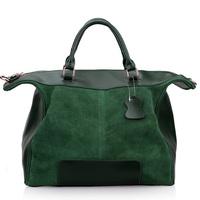 2014 New Large Capacity 100%Guarantee Genuine Leather Women Messenger Bag Nubuck Patchwork Genuine Leather Women Leather handbag