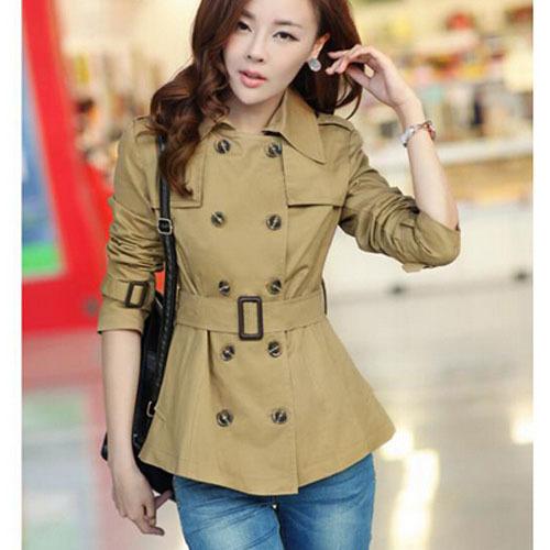 купить Женский тренч Qiao yan 2015 OL windcoat yyf029 недорого