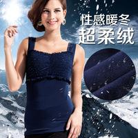 Perfect pedicle 2014 plus exclusive new super soft warm thick velvet vest body sculpting vest warm thermal underwear