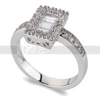 White Zircon Wedding Ring Jewelry Made with Genuine Cubic Zirconia From Austria