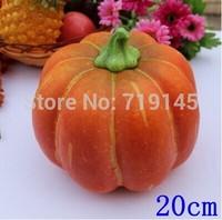 20CM Artificial vegetable fake pumpkins kitchen cabinet home decoration photography props small pumpkin
