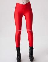 2014 Autumn Unique V-high waist Legging fluorescent candy colors sexy Hip sport Leggings women girl Leggings for women,S-XL,yd10
