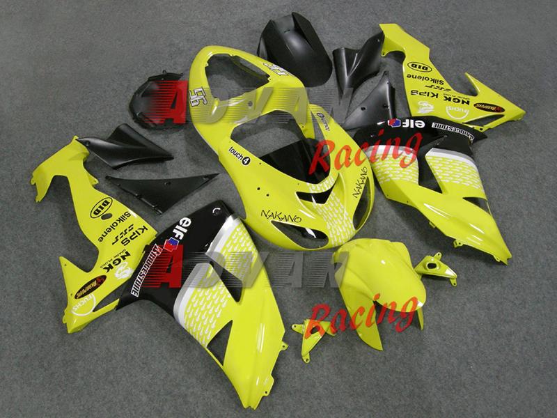 Yellow Decals Injection Kawasaki ZX10R Moto Fairings Bodywork Set kit Kawasaki Ninja ZX10R 2006-2007 005(China (Mainland))