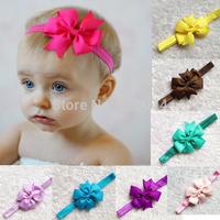 Trail Order 1pcs Hair accessories infant baby girls ribbon bowknot Hair bow Princess headband children band Christmas Gift