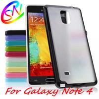 Matt PC + TPU Back Case For Samsung Galaxy Note 4 N910,10pcs/lot Free Shipping