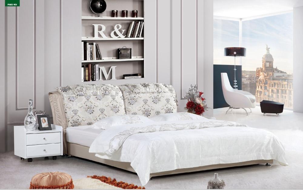 cama de tejido, cama doble, la cama de matrimonio en Camas de Muebles