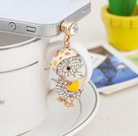 TOP Quality Fashion Delicate Bird Phone Pendant Phone Accessories Bird Mobile Dust Plug  SP120