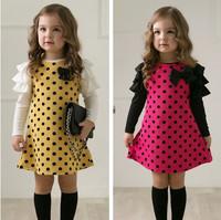 Free shipping!spring autumn children's clothing wholesale children girl dress lady 5pcs/lot