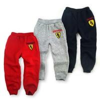 2014 spring autumn children boys girls sports pants kids cotton leisure pants full length 5pcs/lot
